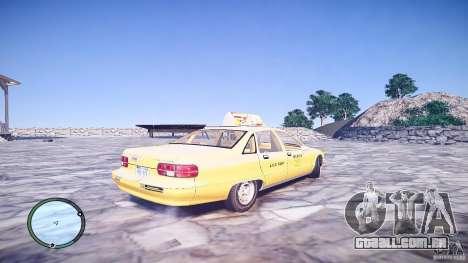 Chevrolet Caprice Taxi para GTA 4 traseira esquerda vista