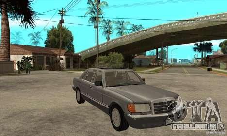 Mercedes Benz W126 560 v1.1 para GTA San Andreas vista traseira