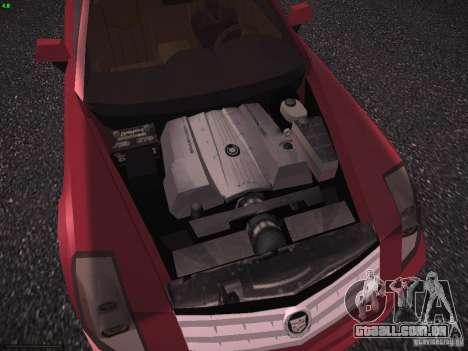 Cadillac XLR 2006 para GTA San Andreas vista interior
