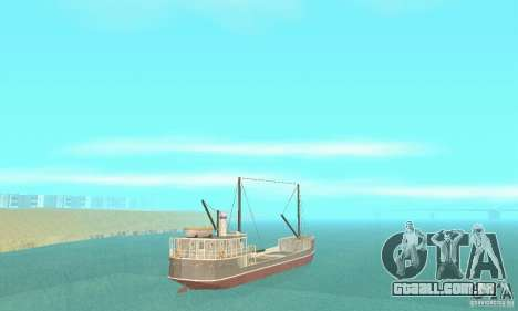 Steam Freighter para GTA San Andreas esquerda vista