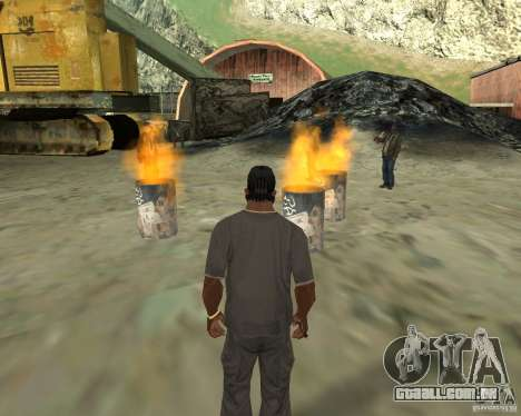 Barney sem-teto para GTA San Andreas quinto tela