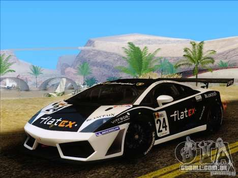 Lamborghini Gallardo LP560-4 GT3 V2.0 para GTA San Andreas traseira esquerda vista