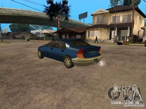 HD Kuruma para GTA San Andreas esquerda vista