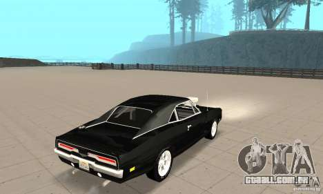 Dodge Charger RT 1970 The Fast & The Furious para GTA San Andreas traseira esquerda vista