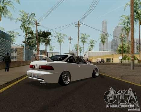 Acura Integra para GTA San Andreas traseira esquerda vista