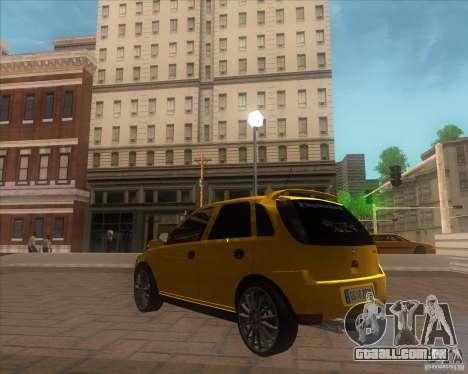 Opel Corsa C 2004 Deutsch style para GTA San Andreas traseira esquerda vista