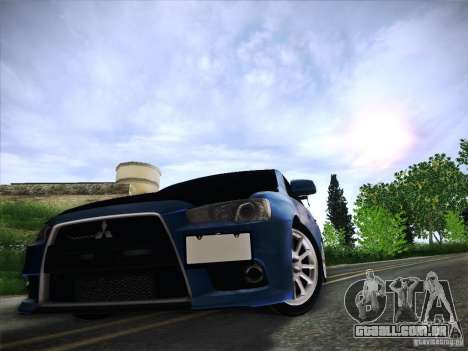 Mitsubishi Lancer Evolution Drift Edition para GTA San Andreas vista inferior