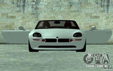 BMW Z8 para GTA San Andreas traseira esquerda vista