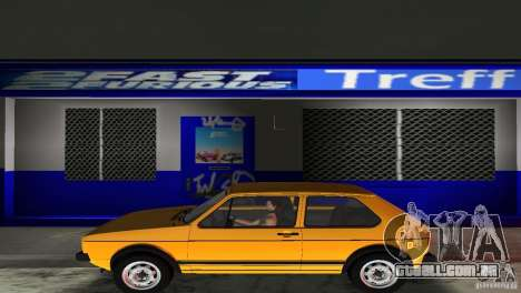 Volkswagen Golf Mk1 GTI para GTA Vice City vista traseira