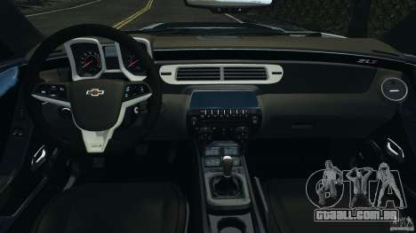 Chevrolet Camaro ZL1 2012 v1.2 para GTA 4 vista de volta