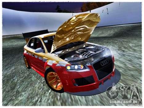 Audi RS4 Calibri-Ace para GTA San Andreas vista direita
