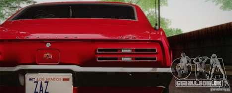Pontiac Firebird 400 (2337) 1968 para GTA San Andreas esquerda vista