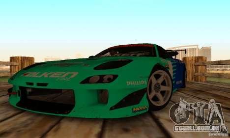 Mazda RX7 Falken edition para GTA San Andreas vista traseira
