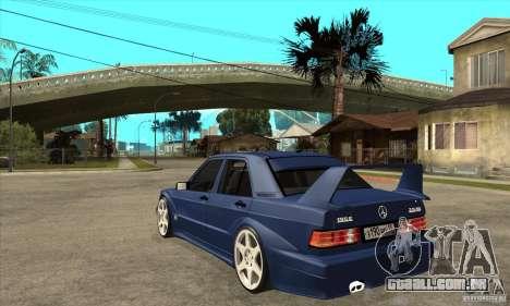 Mercedes-Benz w201 190 2.5-16 Evolution II para GTA San Andreas traseira esquerda vista