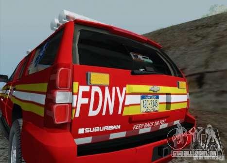 Chevrolet Suburban EMS Supervisor 862 para GTA San Andreas vista superior