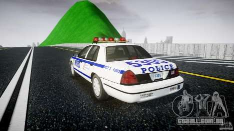 Ford Crown Victoria Police Department 2008 NYPD para GTA 4 vista interior