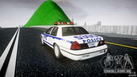 Ford Crown Victoria Police Department 2008 NYPD para GTA 4 vista interior