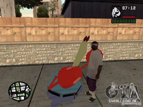 O Sr. Siriguejo para GTA San Andreas sétima tela