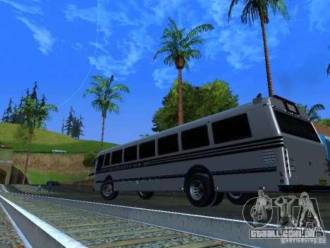 Prison Bus para GTA San Andreas vista interior