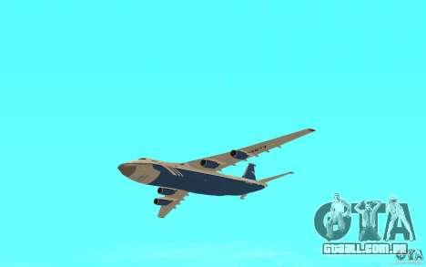 O an-124 Ruslan para GTA San Andreas vista direita
