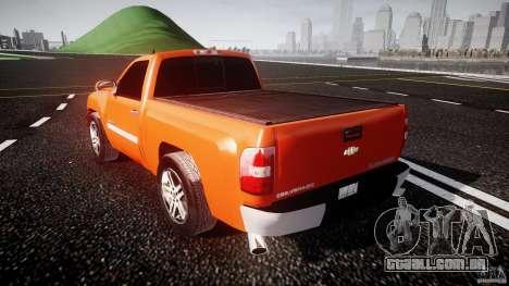 Chevrolet Silverado 2011 para GTA 4 traseira esquerda vista