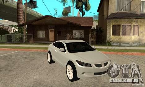 Honda Accord Coupe 2009 para GTA San Andreas vista traseira