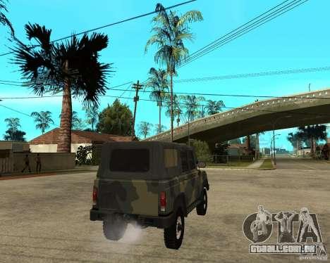 UAZ-3172 para GTA San Andreas traseira esquerda vista