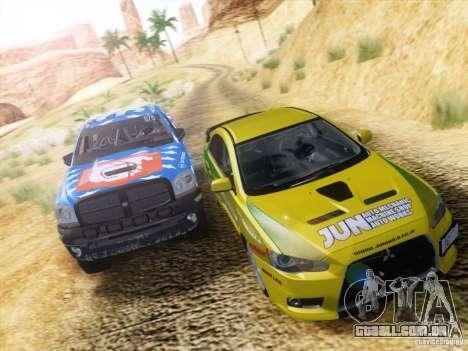 Dodge Ram Trophy Truck para GTA San Andreas vista superior
