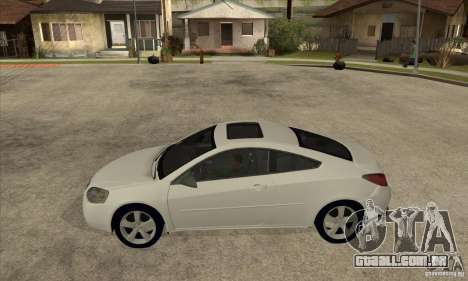 Pontiac G6 Stock Version para GTA San Andreas esquerda vista