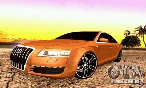 Audi A6 Blackstar para GTA San Andreas esquerda vista