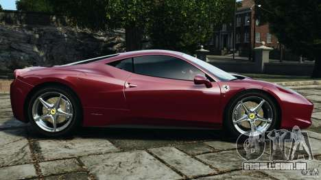 Ferrari 458 Italia 2010 v2.0 para GTA 4 esquerda vista