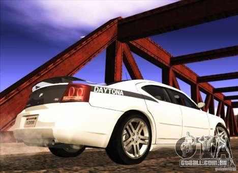 Dodge Charger R/T Daytona para GTA San Andreas traseira esquerda vista