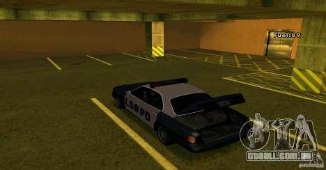 Merit Police Version 2 para GTA San Andreas vista traseira