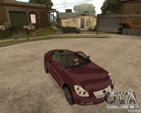 Lexus SC430 para GTA San Andreas vista traseira