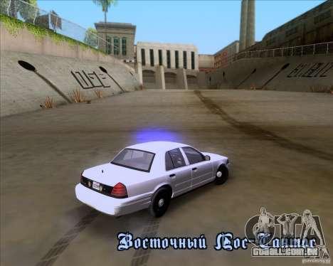 Ford Crown Victoria 2009 Detective para GTA San Andreas vista superior