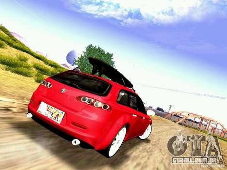 Alfa Romeo 159 Sportwagon para GTA San Andreas esquerda vista