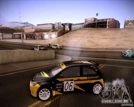 Opel Corsa Super 1600 para GTA San Andreas vista interior