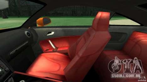 Audi TT Stock 2007 para GTA 4 vista interior