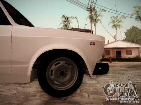 VAZ 2107 para GTA San Andreas vista direita