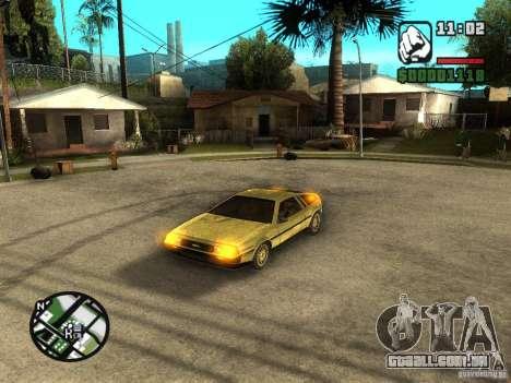 Golden DeLorean DMC-12 para GTA San Andreas esquerda vista