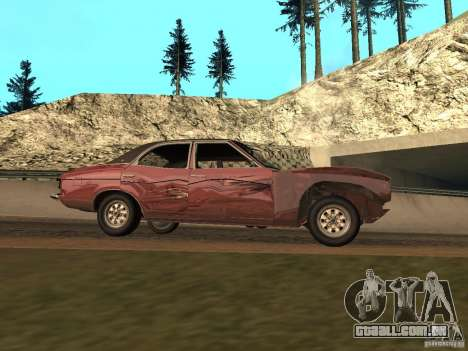Ford Cortina MK 3 2000E para vista lateral GTA San Andreas