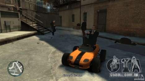 Banshee Go Kart para GTA 4 traseira esquerda vista