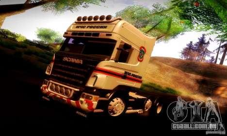 Scania R620 Emercom da Rússia para GTA San Andreas interior