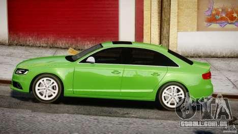 Audi S4 2010 v1.0 para GTA 4 esquerda vista