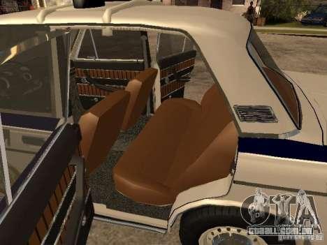Polícia VAZ 2103 para GTA San Andreas vista traseira