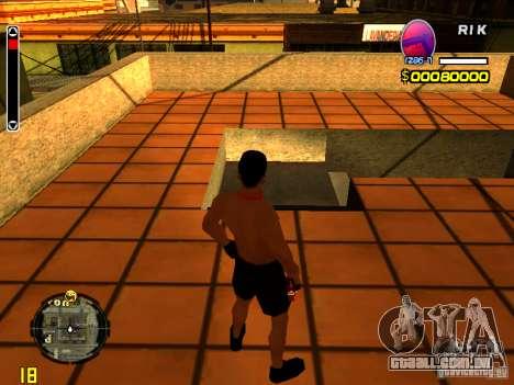 Homem de pele praia para GTA San Andreas segunda tela
