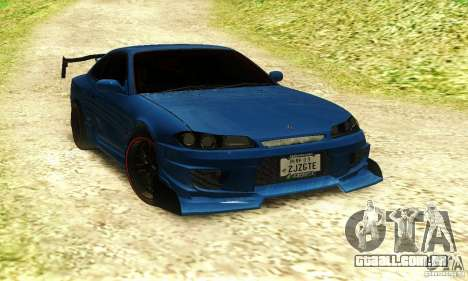 Nissan Silvia S15 Tuned para GTA San Andreas traseira esquerda vista
