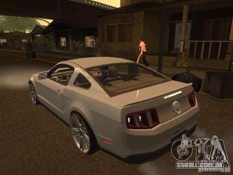 Ford Mustang 2011 GT para GTA San Andreas traseira esquerda vista