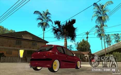 Peugeot 206 GTI para GTA San Andreas vista direita