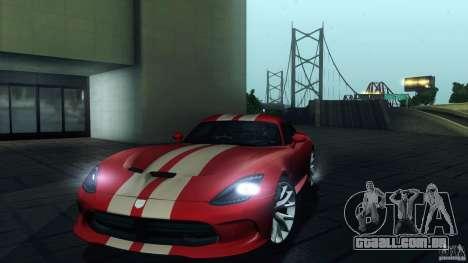 Dodge SRT Viper GTS 2012 V1.0 para o motor de GTA San Andreas